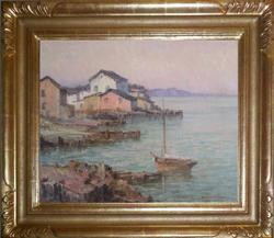 "Maurice Braun ""The Bay Toward Evening"" 16 x 20 inches, oil on canvas!"