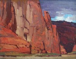 "Edgar Payne ""In Canyon De Chelley, Arizona"", 12 x 15 inches, oil on canvas."