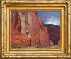 "Edgar Payne ""In Canyon De Chelley, Monument Valley, Arizona"""