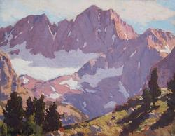 "Edgar Payne ""Palisade Glacier, Sierra Nevada Mountains, 1920"", 11.75 x 15 inches, oil on canvas!"
