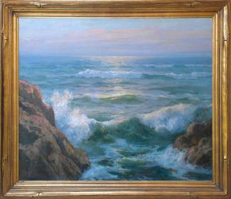 "Maurice Braun ""The Pacific"", 25 x 30 inches, oil on canvas, excellent condition!"